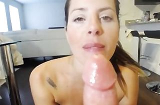 Harcore deep dildoing in the rump and mouth