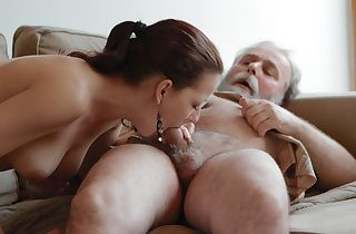 Ilona and her dude are sharing a superb time when he invites his aged pal over